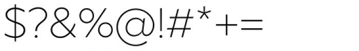 XXII Geom Light Font OTHER CHARS