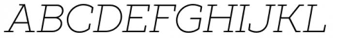 XXII Geom Slab Light Italic Font UPPERCASE