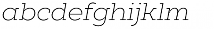 XXII Geom Slab Light Italic Font LOWERCASE
