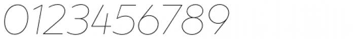 XXII Geom Thin Italic Font OTHER CHARS