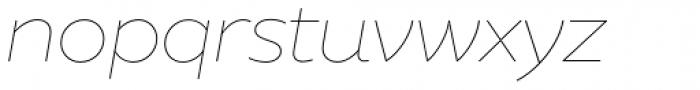XXII Geom Thin Italic Font LOWERCASE