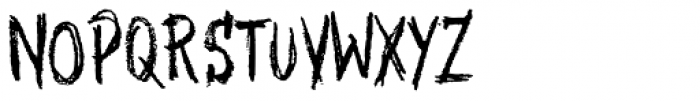 XXII Grober Bleistift Font UPPERCASE