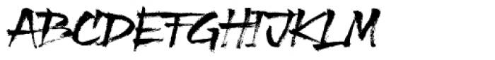 XXII Grober Pinsel Font LOWERCASE