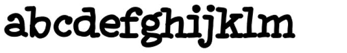 XXII HandTypeWriter Bold Font LOWERCASE