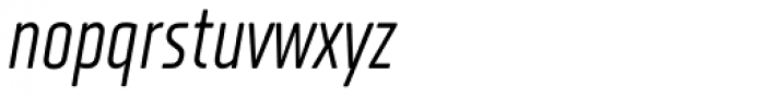XXII Neue Norm Rounded Cnd Regular It Font LOWERCASE
