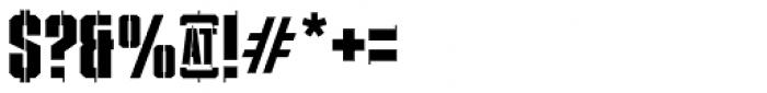 XXII STREITKRAFT ZWEI Font OTHER CHARS