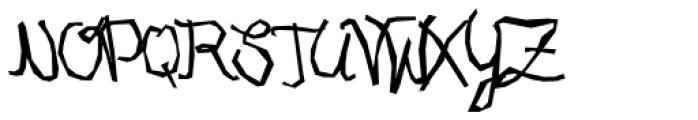XXII URBAN CUTOUTS Script Font UPPERCASE