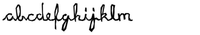 XXII URBAN CUTOUTS Script Font LOWERCASE