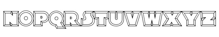 XylitolHollow-Regular Font LOWERCASE