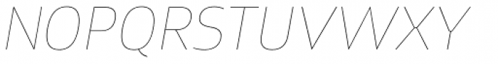 Xyngia Hairline Italic Font UPPERCASE