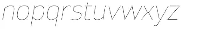 Xyngia Hairline Italic Font LOWERCASE