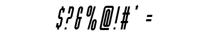 Y-Files Condensed Italic Font OTHER CHARS
