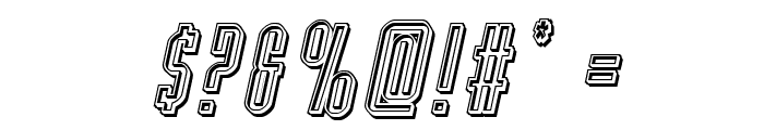 Y-Files Engraved Italic Font OTHER CHARS