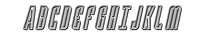 Y-Files Engraved Italic Font UPPERCASE