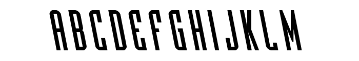 Y-Files Leftalic Font LOWERCASE