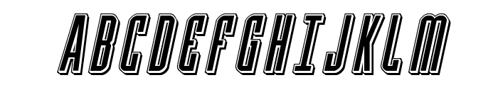 Y-Files Punch Italic Font UPPERCASE