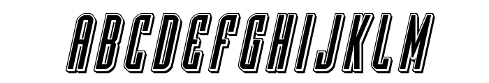 Y-Files Punch Italic Font LOWERCASE