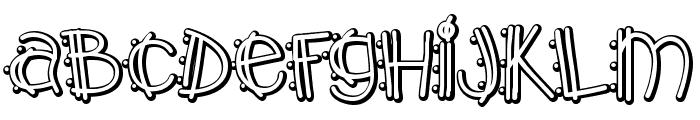 Y2K PopMuzik Outline AOE Font LOWERCASE