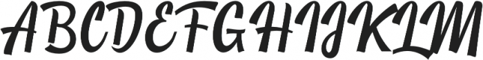 Yackien otf (400) Font UPPERCASE