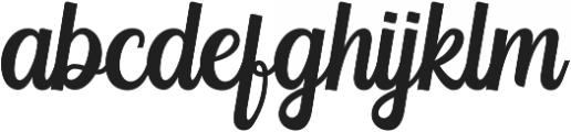 Yackien otf (400) Font LOWERCASE