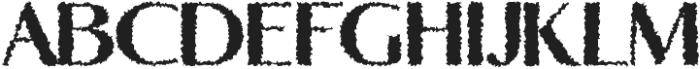 Yadon Heavy Distorted otf (800) Font UPPERCASE