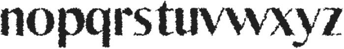 Yadon Heavy Distorted otf (800) Font LOWERCASE