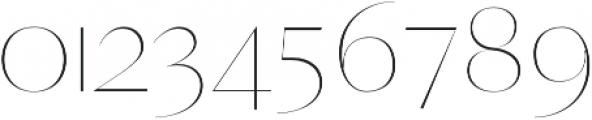 Yadon Thin otf (100) Font OTHER CHARS