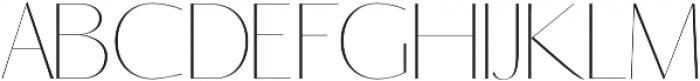 Yadon Thin otf (100) Font UPPERCASE