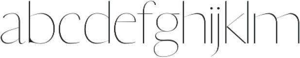 Yadon Thin otf (100) Font LOWERCASE