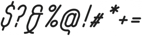 Yasemin Bold Italic otf (700) Font OTHER CHARS