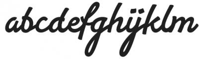 Yaty otf (400) Font LOWERCASE