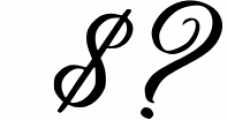 Yafoga - Swirl Calligraphy Font OTHER CHARS