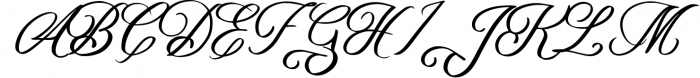 Yafoga - Swirl Calligraphy Font UPPERCASE