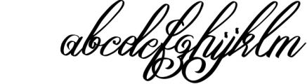 Yafoga - Swirl Calligraphy Font LOWERCASE