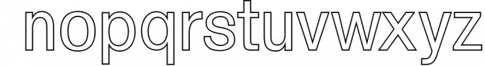 Yarelli Sans Serif Font Family 1 Font LOWERCASE
