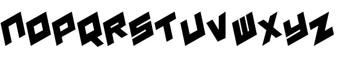 YAY USA Leftalic Font UPPERCASE