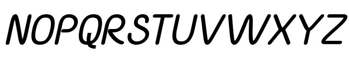 Yaahowu Bold Italic Italic Font UPPERCASE