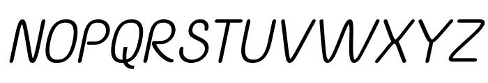 Yaahowu Italic Italic Font UPPERCASE