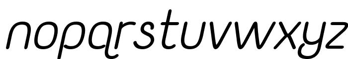 Yaahowu Italic Italic Font LOWERCASE