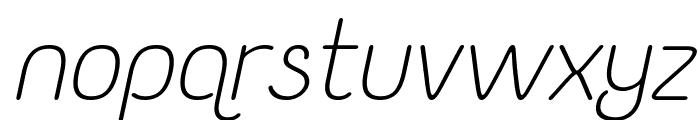 Yaahowu Light Italic Italic Font LOWERCASE