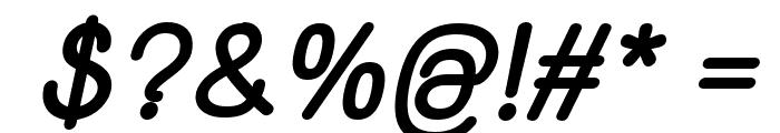 Yaahowu Thick Italic Italic Font OTHER CHARS