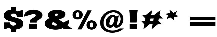 Yacimiento ExtraBold Font OTHER CHARS