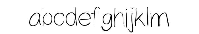 Yahfie Light Font LOWERCASE