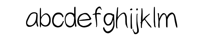 Yahfie Normal Font LOWERCASE