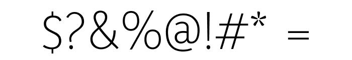 Yaldevi Colombo ExtraLight Font OTHER CHARS