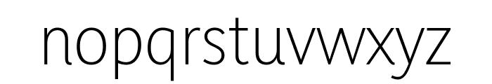 Yaldevi Colombo ExtraLight Font LOWERCASE