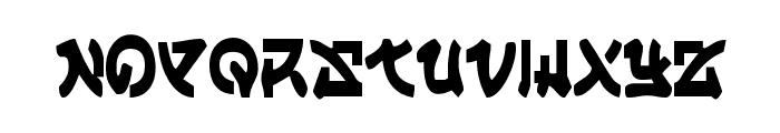 Yama Moto Condensed Font UPPERCASE