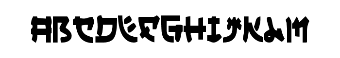 Yama Moto Condensed Font LOWERCASE