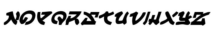 Yama Moto Italic Font UPPERCASE