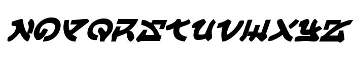 Yama Moto Italic Font LOWERCASE